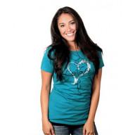 Dámske tričko - Ježiš = Láska (TD043) - posledný kus (veľkosť L)