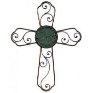 Nástenný kríž MILOSŤ kovový (DK049)