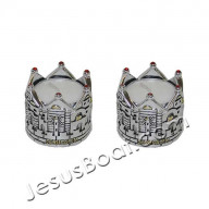 Svietnik. Šabat. Jeruzalemská koruna, 2 ks (IZ116)