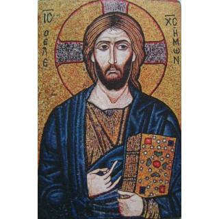 Kristus Spasiteľ - mozaika, Ikona 9,5cm x 14,5cm