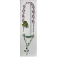 Ruženec náramkový Swarovski - fialový