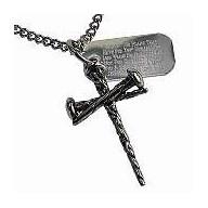 Trojklincový krížik - oceľový náhrdelník (NH93)