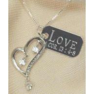 Láska je - strieborný náhrdelník (NH95)