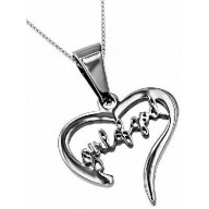 Božia žena - srdce - strieborný náhrdelník (NH97)