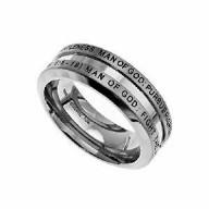 Boží muž - prsteň z chirurgickej ocele (PR64)