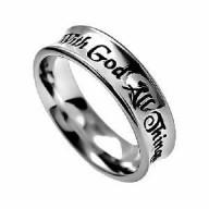 With God - prsteň z chirurgickej ocele (PR67)