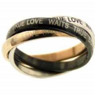 Skutočná láska čaká - prsteň z chirurgickej ocele (PR69)