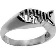 Ichtus, Jesus jumbo - strieborný prsteň .925 (PR68)