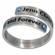 Ježiš ten istý, split - prsteň z chirurgickej ocele (PR71)