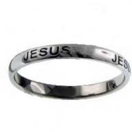 Ježiš, tenký dizajn - prsteň z chirurgickej ocele (PR72)