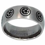 Futbal - prsteň z chirurgickej ocele (PR74)