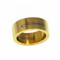 Jesus, zlatý dizajn - prsteň z chirurgickej ocele (PR75)