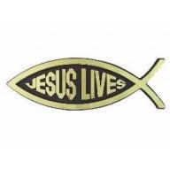 Jesus Lives - 3D autoemblém (AE14)