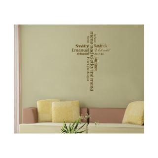Interiérová nálepka - Ježišove mená (IN038)