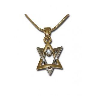 Náhrdelník Dávidova hviezda (IZ146)