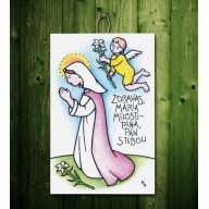 Tabuľka - Zdravas Mária