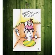 Tabuľka - Toaleta