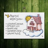 Tabuľka - Pravidlá nášho domu