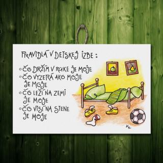 93d05815f09f Tabuľka - Pravidlá v detskej izbe