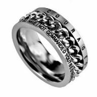 Courageous - prsteň z chirurgickej ocele (PR78)