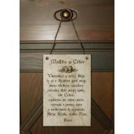 Tabuľka - Modlitba za Cirkev