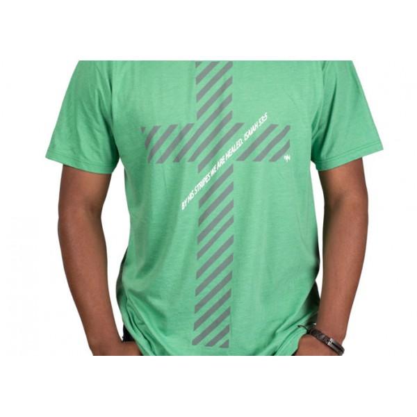 157262b86199 Pánske tričko - Kríž Jeho ranami (TP047)
