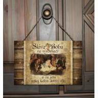 Vianočná tabuľka - Betlehem