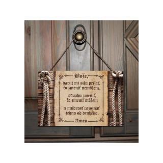 Tabuľka - Bože, daruj mi silu