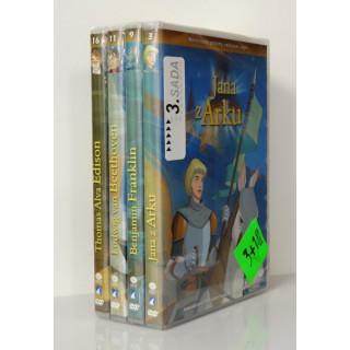 DVD - Sada : Animované príbehy velikánov dejín 3.