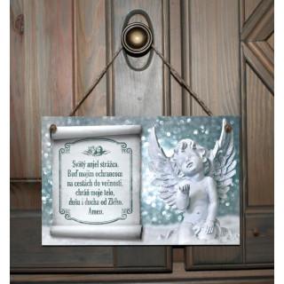 Tabuľka - Anjel - strieborný