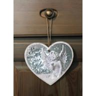 Tabuľka - Srdce Anjel - strieborný