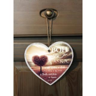 Tabuľka - Srdce - Boh je láska