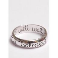 I will wait - strieborný prsteň (PR11)