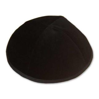 Jarmulka - zamatová, čierna (IZ187)