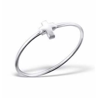 Cross 3D - strieborný prsteň (PR79)