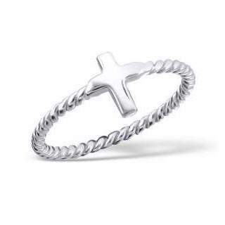 Cross - strieborný prsteň (PR80)