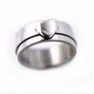 Heart - oceľový spinner prsteň (PR83)
