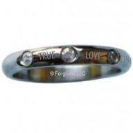 True Love Waits - oceľový prsteň s kamienkami (PR88)