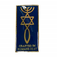 Odznak - Naštepený, Rim 11:17 (IZ197)