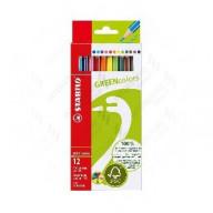 Farebné ceruzky STABILO GREENcolors 12 ks