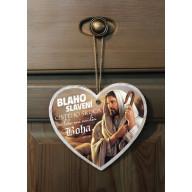 Tabuľka - Srdce - Blahoslavení čistého srdca