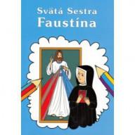 Omaľovánka - Sväta Sestra Faustína / Lúč