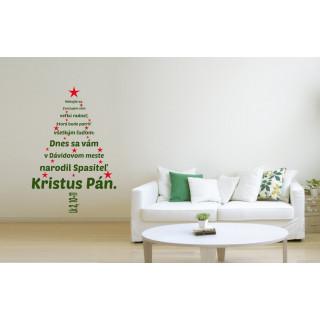 Interiérová nálepka - Vianočný stromček (IN058)