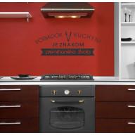 Interiérová nálepka - Poriadok v kuchyni (IN064)