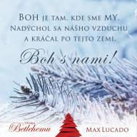 Vianočná pohľadnica - Boh je tam, kde sme my (Max Lucado)