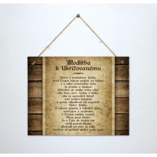 Tabuľka - Modlitba k Ukrižovanému