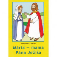 Omaľovánka - Mária - mama Pána Ježiša
