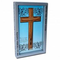 Kríž z olivového dreva so zeminou a vodou z Jordánu (IZ134)