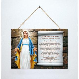 Tabuľka - Modlitba za domov