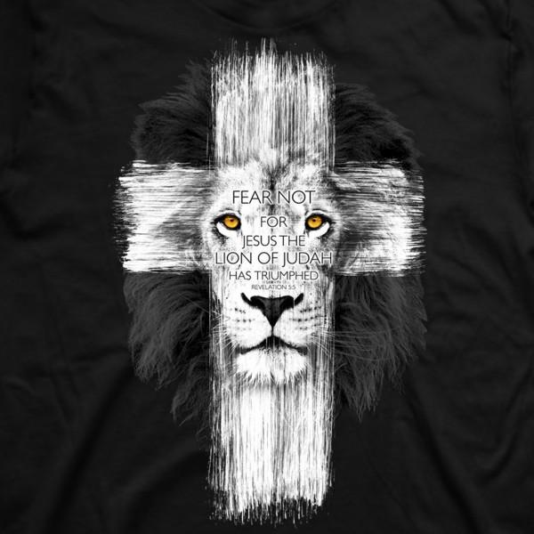 320443f69ddc Pánske tričko - Kríž Lev (TP053) Zobraziť plnú veľkosť